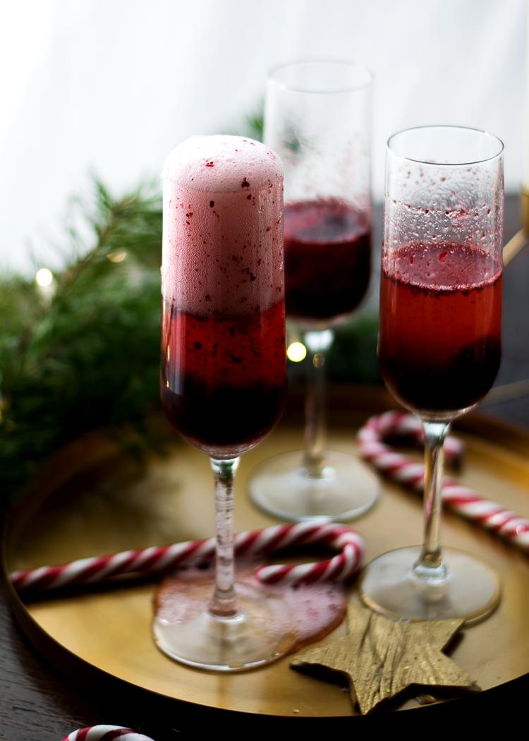 Delicious Berry Sorbet Mimosas