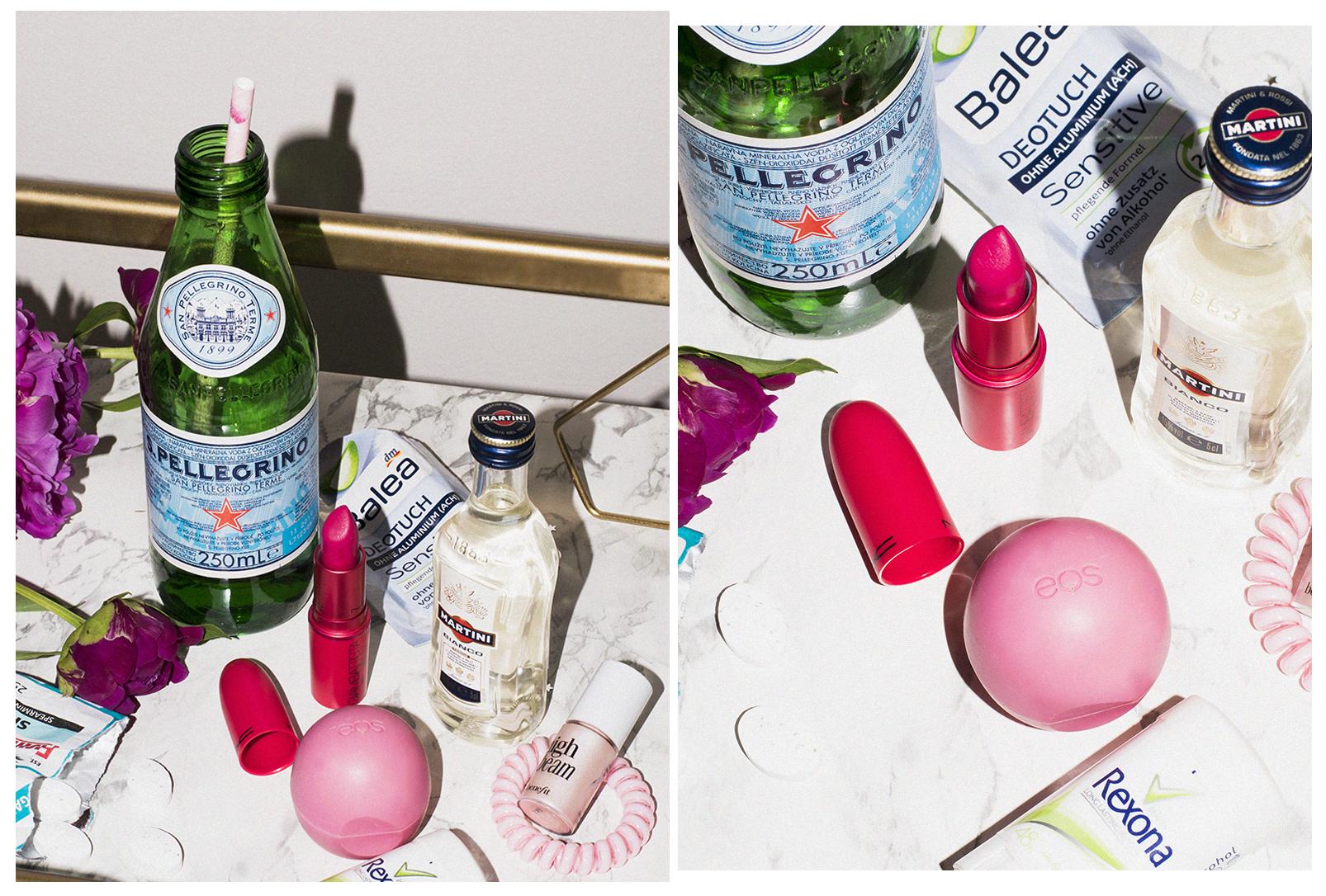 лимитирано MAC Giambattista Valli червило, EOS балсам за устни и малка бутилка сода
